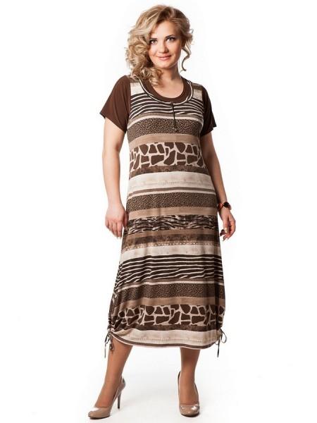 Платье Симона (коричневый)