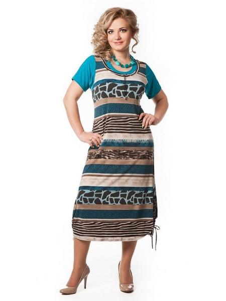 Платье Симона (голубой)