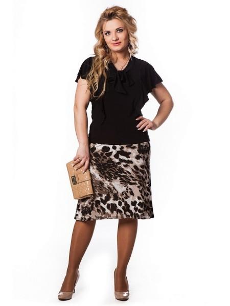 Юбка Бизнес-леди (леопард)
