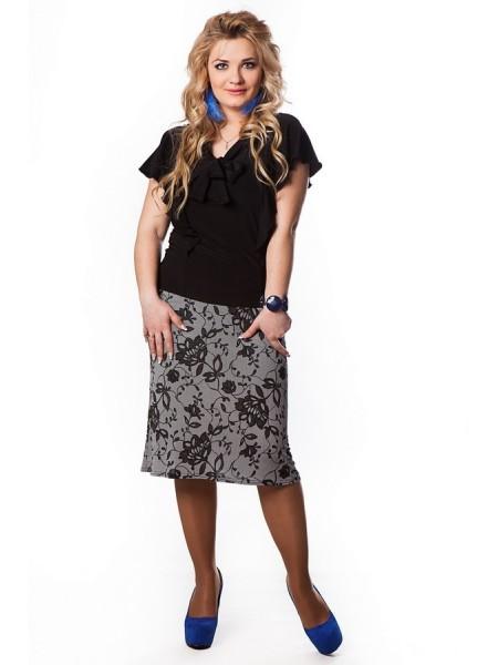 Юбка Бизнес-леди (серый)