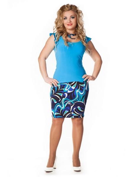 Юбка Тюльпан (голубой)