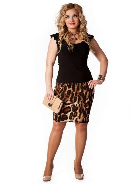 Юбка Тюльпан (леопард)