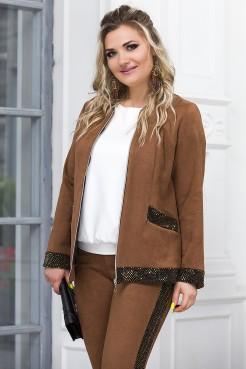 Жакет Агата (светло-коричневый)