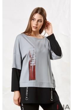Блузка 41116 (серый)