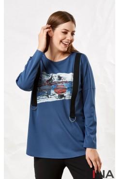 Блузка 41117 (голубой)