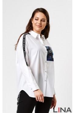 Блузка 41122 (белый)
