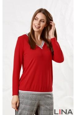 Блузка 41127 (красный)