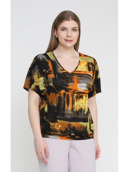 Блузка 4148 (оранжевый)