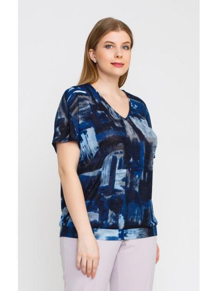 Блузка 4148 (синий)