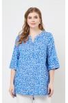 Блузка 4235 (домики голубой)