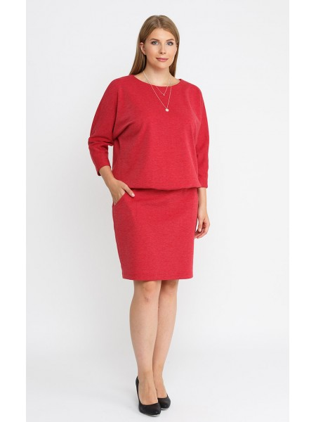 Платье 23352110 (красный/меланж)