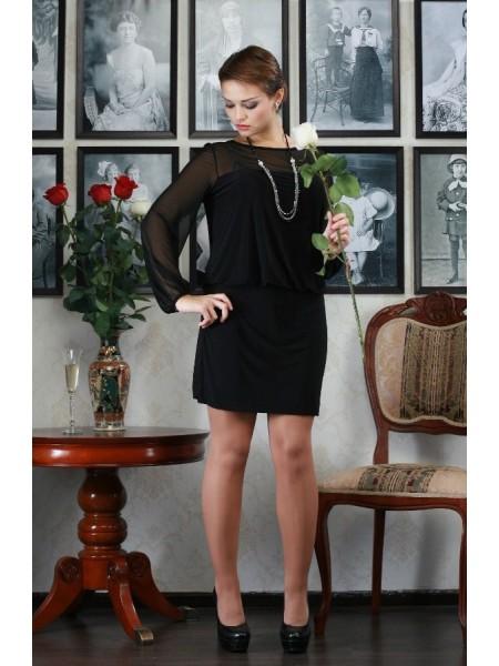 Платье Ампир (черное)