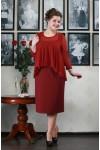 Платье Ангелина (бордо)