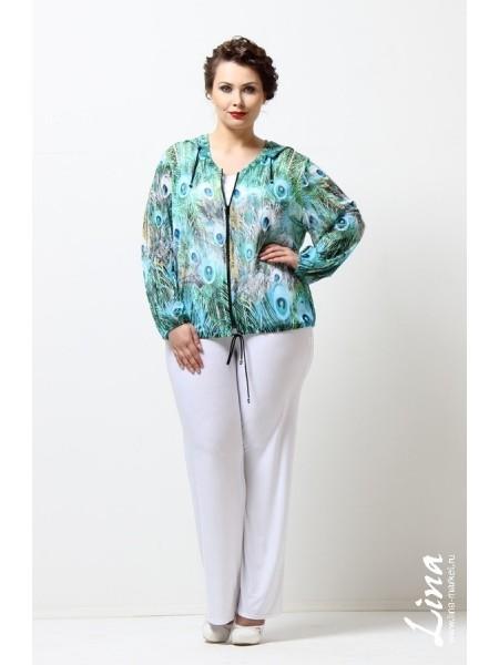 Блузка Шахеризада (павлин голубой)
