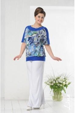 Блузка Марина (василек)