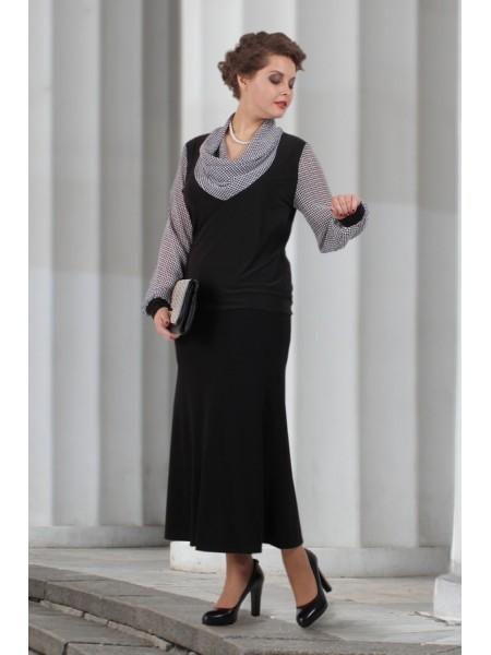 Блузка Соната (елочка черный)