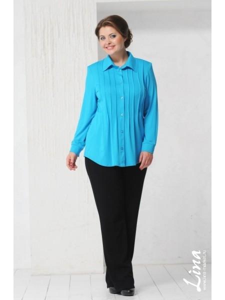 Рубашка Зарина (голубая)