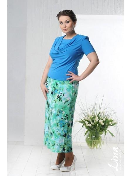Блузка Качели 2 (голубой)