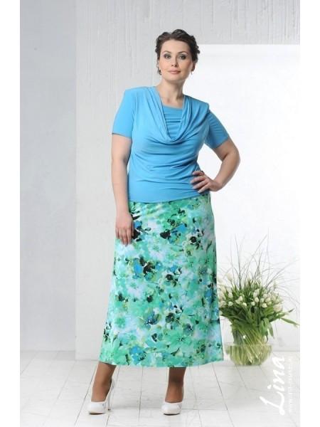 Блузка Качели 2 (светло-голубой)