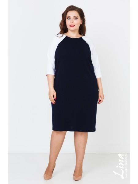 Платье Эстэль (синий-белый)