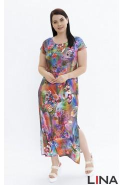 Платье Сандра (розовый/розы)