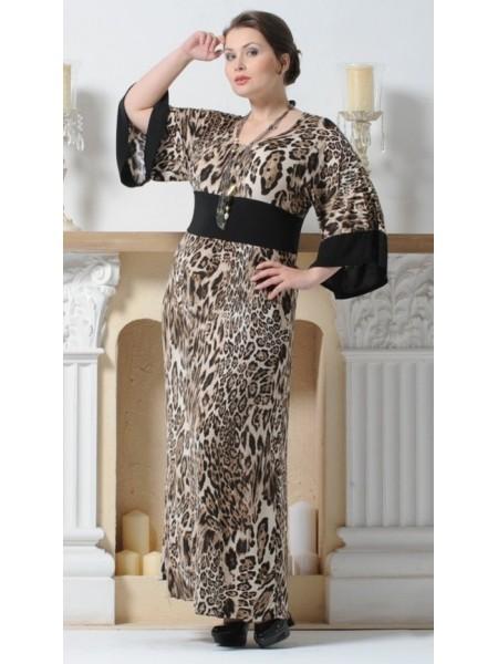 Платье Джуна (леопард коричневый)