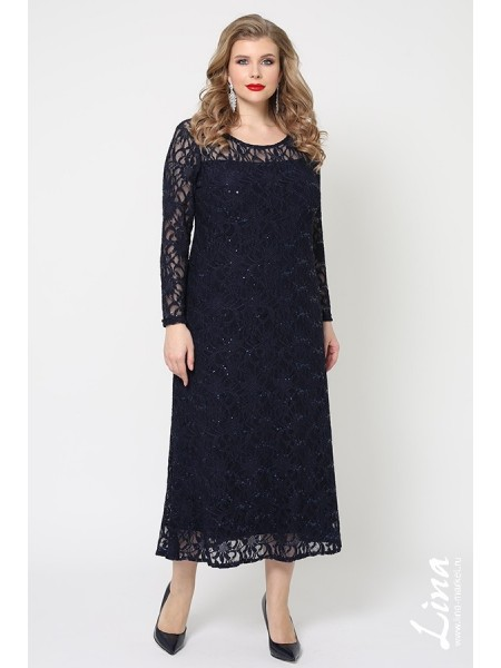 Платье Мадина (синий)