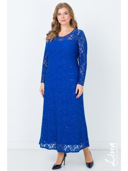 Платье Мадина (василек)