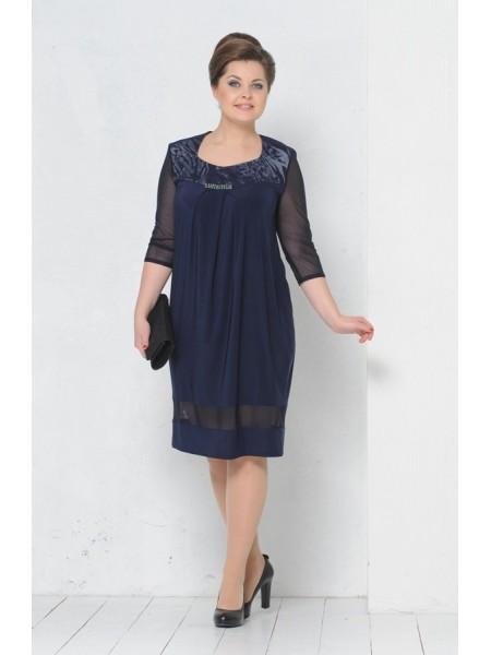 Платье Монро (темно-синий)