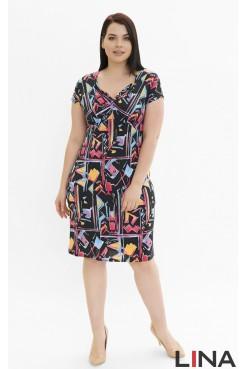 Платье Олисия (краски голубой/розовый)