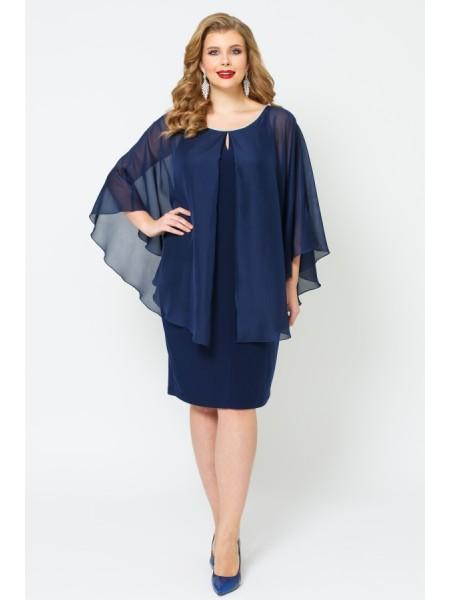 Платье Теона (синий темный)