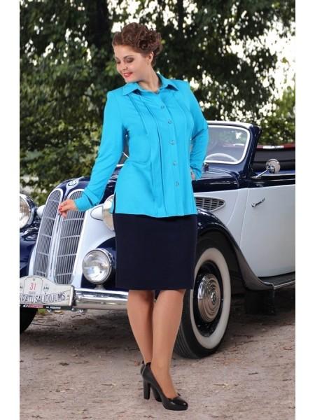 Рубашка Марика (голубая)