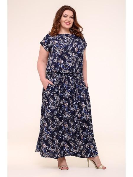 Платье Тиффани 2 (синий/василек)
