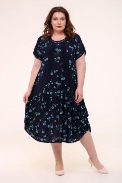 Платье Алевтина (синий/голубой)