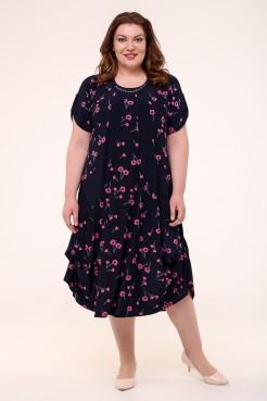 Платье Алевтина (синий/розовый)