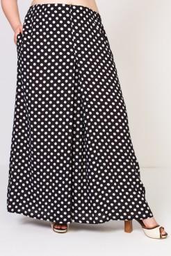 Юбка брюки Карусель (горох черно-белый)
