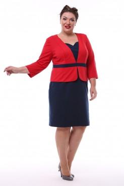 Платье Бренда (красный/синий)