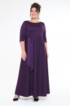 Платье Изумруд (баклажан)