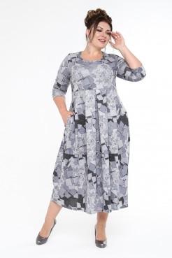 Платье Осень (серый)