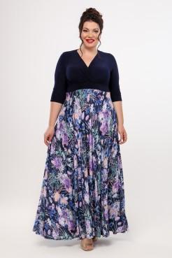 Платье Пальмира (синий/сирень)
