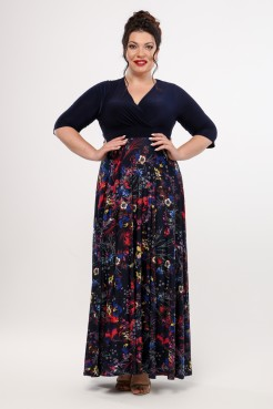 Платье Пальмира (синий/красный)