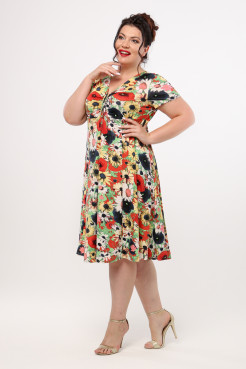 Платье Саманта (цветы)