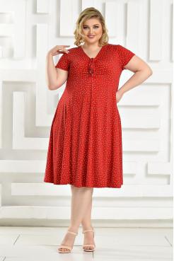 Платье Саманта (красный/горох)