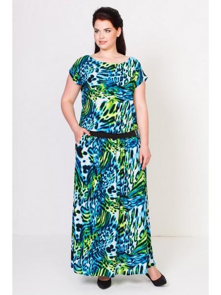 Платье Тиффани (леопард зеленый)