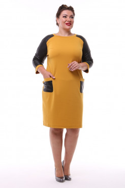 Платье Жаннет (горчица)