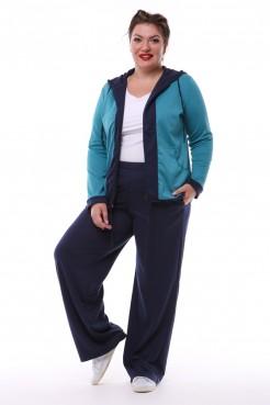 Спортивный костюм Весна тройка (бирюза/синий темный)