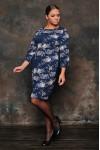 Платье 1072 (цветы на синем)