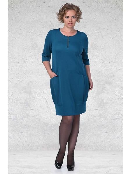 Платье 1459 бирюза