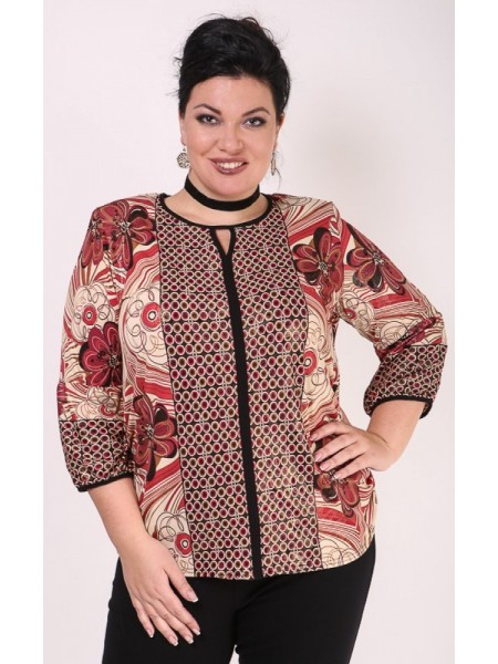 Блузка Люсьена (красный)