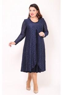 Платье Гармония (синий)
